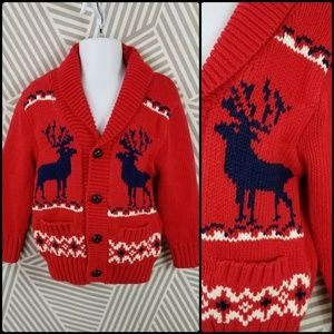 Baby Boys 2T Fair Isle Christmas Reindeer sweater